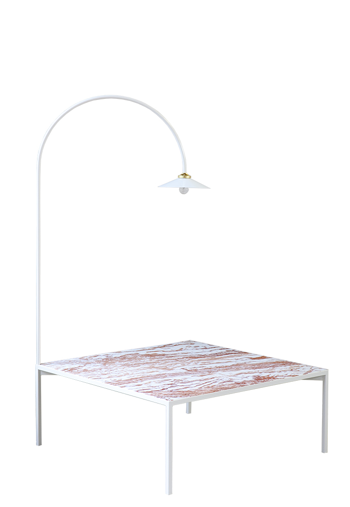 low table + lamp