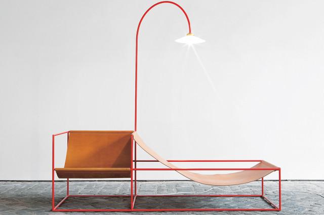 duo seat + lamp